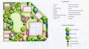 Проект озеленения садового участка в Подмосковье  Площадь: 26 соток Стоимость: 52000