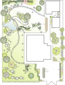 Проект озеленения садового участка в Подмосковье  Площадь: 6 соток Стоимость: 12000р
