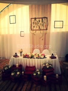 Свадебное оформление в стиле рустик  в Жостово